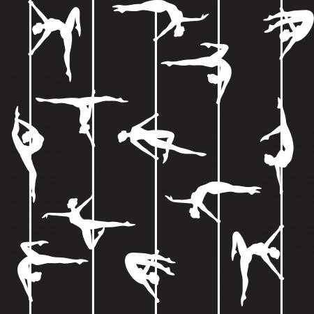pole dancing: silhouette de danseuse de p�le
