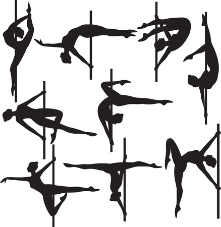 bailarines silueta: polo silueta bailarina