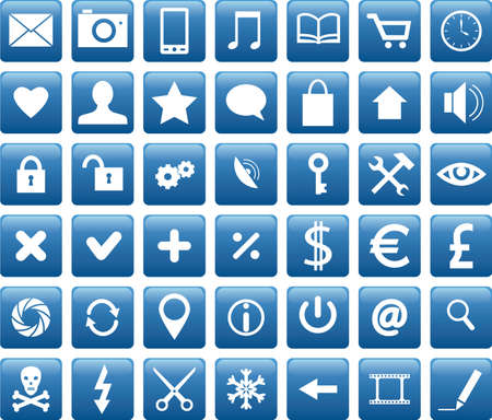 Set of web, business and mobile icons Stock Vector - 19577824