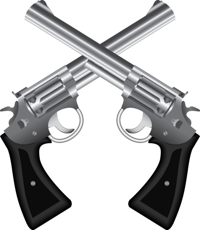 colt: Two crossed silver revolvers