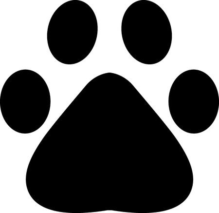 Cat or dog paw footprint Иллюстрация