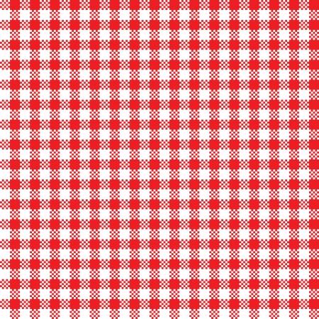 Rojo-blanco mantel patrón de fondo sin fisuras Ilustración de vector