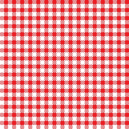 tela blanca: Rojo-blanco mantel patr�n de fondo sin fisuras