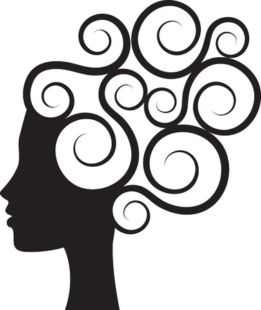 hairdress: Silhouette of woman