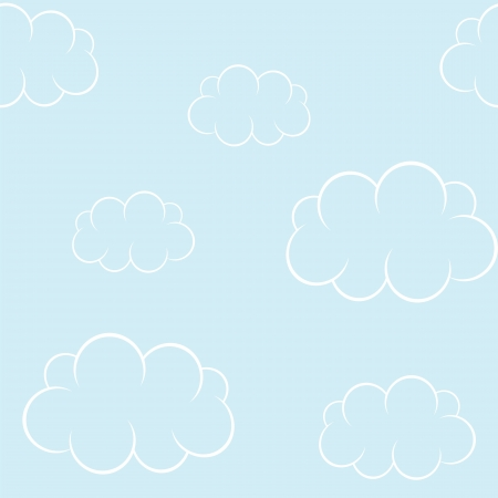 Cartoon clouds on blue sky  Seamless background Stock Vector - 20052199