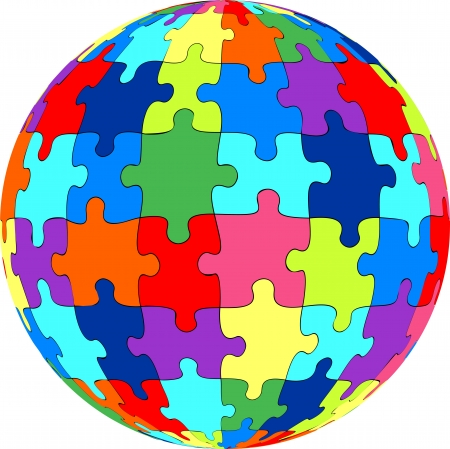 Puzzle ball Stock Vector - 20052207