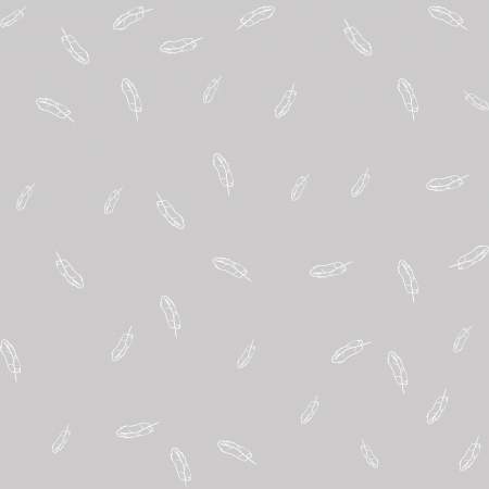 feather boa: Seamless gray background with white feathers
