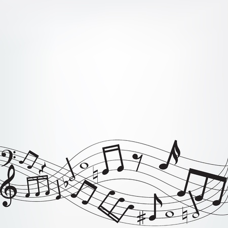 g clefs: Background with music notes border