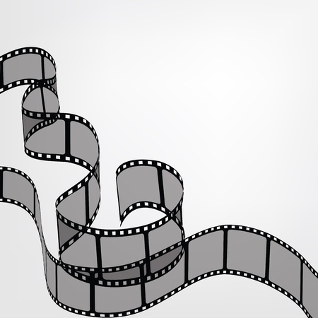 Backgroud with film strips Illustration