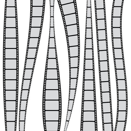 roll film: Backgroud with film strips Illustration