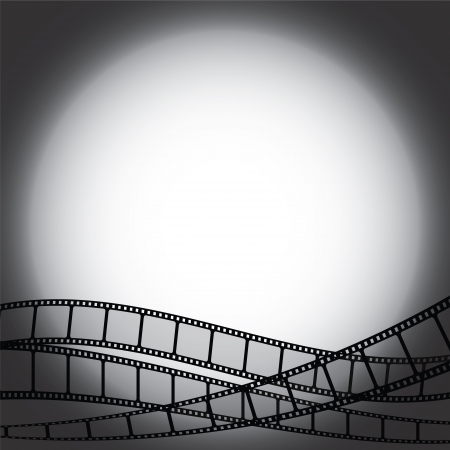 movie film reel: Backgroud with film strips Illustration