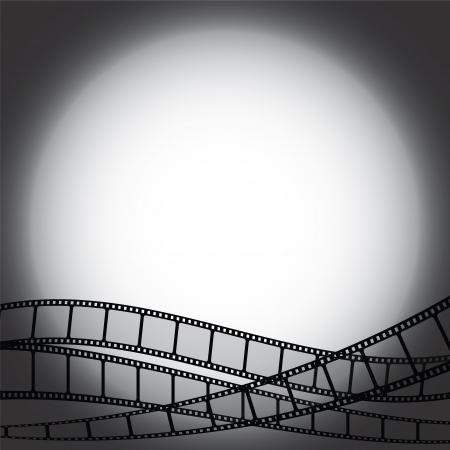 backgroud: Backgroud with film strips Illustration
