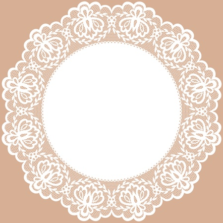 doily: Vintage card with lace doily