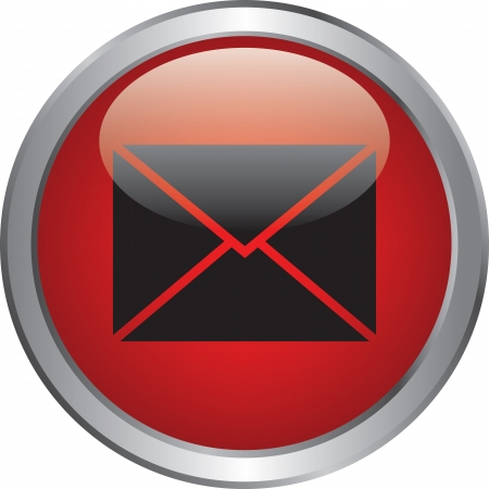 E-mail icon on circle buttons Vector