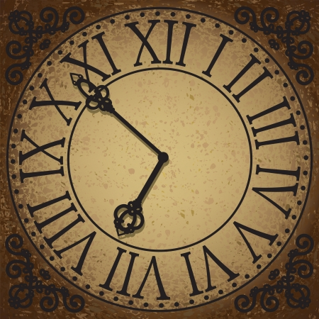 Vintage background with antique clock face