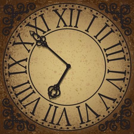 Vintage sfondo con volto orologio antico Archivio Fotografico - 20360507