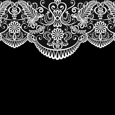 lace border: Iinvitation or greeting card with lace border