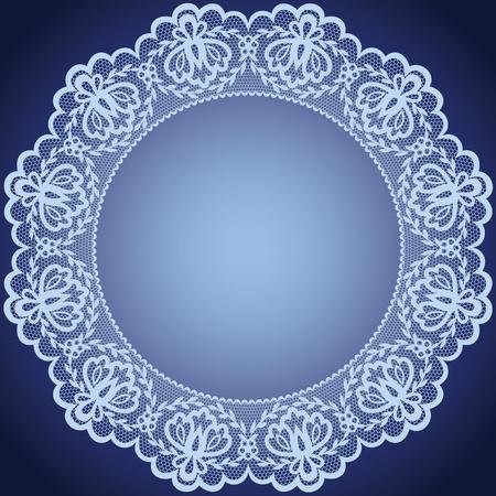 Hochzeit Einladung oder Grusskarte mit Spitze und Serviette