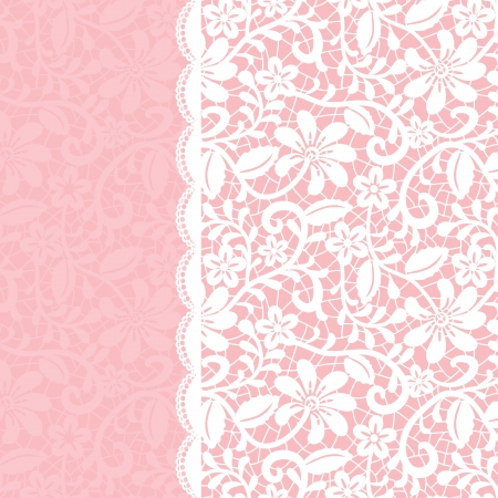lace border: Wedding invitation or greeting card with lace border