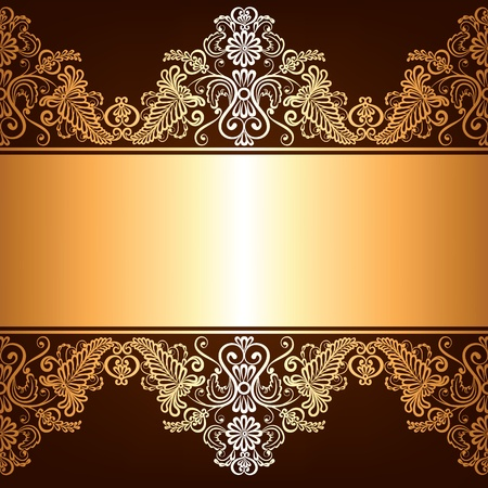 gold jewelry: Background with gold jewelry frame