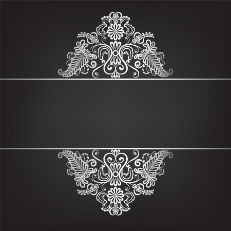 Background with silver jewelry frame  Vector