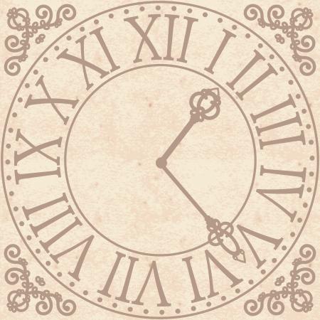 reloj antiguo: Fondo de la vendimia con el reloj antiguo
