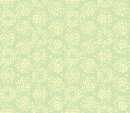 tights: Seamless floral pattern on green background Illustration