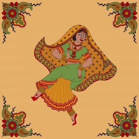 kuchipudi: Indian woman dancer dancing