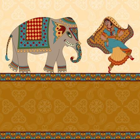 classics: Indian woman dancer dancing
