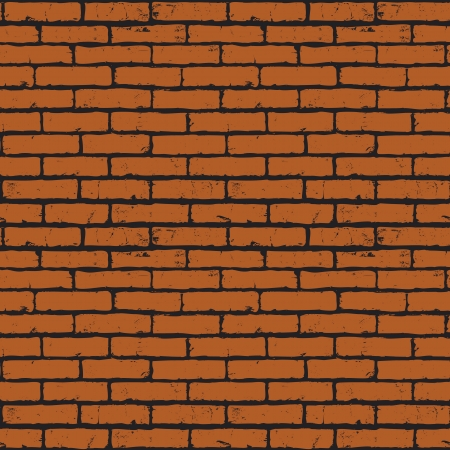 Seamless background of red brick wall texture