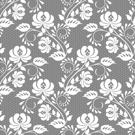 retro lace: Seamless floral lace pattern