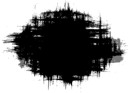 smears:  black grungy abstract hand-painted brush strokes smears Illustration