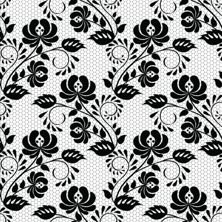Seamless background with lace floral pattern Vector