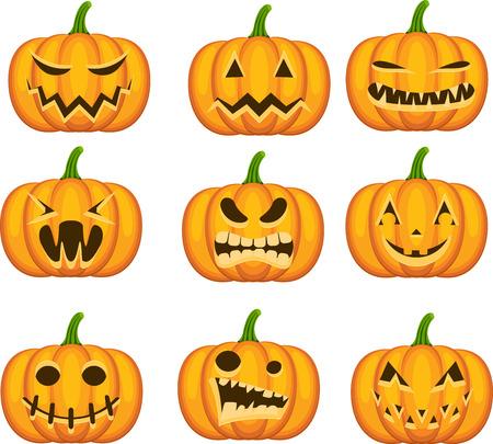 Set Halloween-K?rbisse Standard-Bild - 22238120