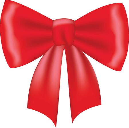 christmas bow: Red bow isolated on white