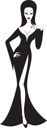 Beautiful sexy witch isolated on white Vector