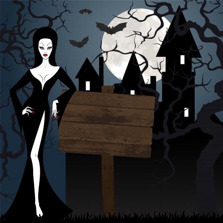 sexy devil: Halloween illustration Illustration