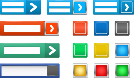 Set of colorful  buttons and login bar Stock Vector - 23645524