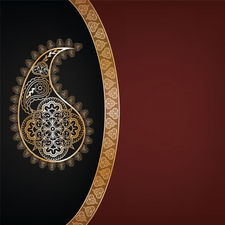 sari: Fondo india con sari patr�n Invitaci�n o tarjeta de felicitaci�n Vectores