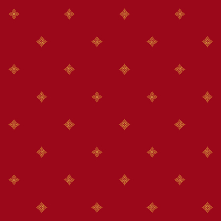 Seamless red background with indian golden pattern Vector