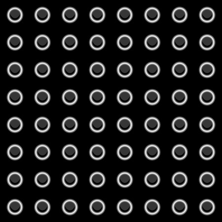 bumps: Illustration of a sheet of metal with rivets Illustration