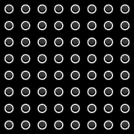 sheet metal: Illustration of a sheet of metal with rivets Illustration