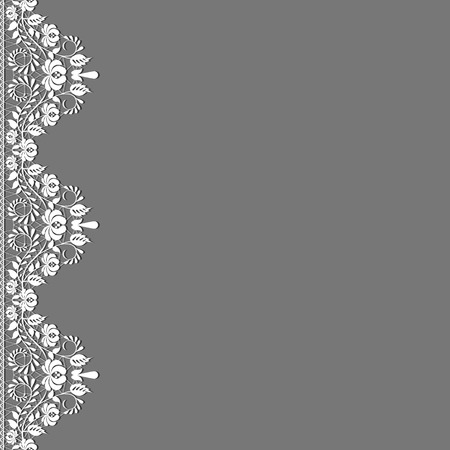 marriage invitation: Template for wedding, invitation or greeting card with lace fabric background