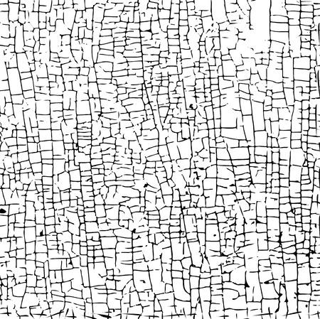 La surface avec de la peinture craquelée. Seamless fond grunge Vecteurs