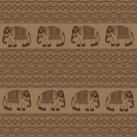 indian elephant: Modelo �tnico con el elefante indio