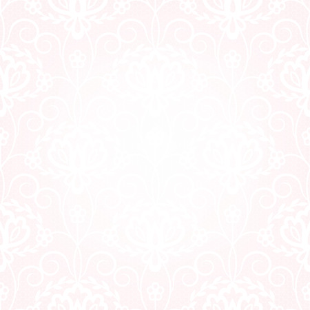 Seamless pattern with lace on gray background Vector