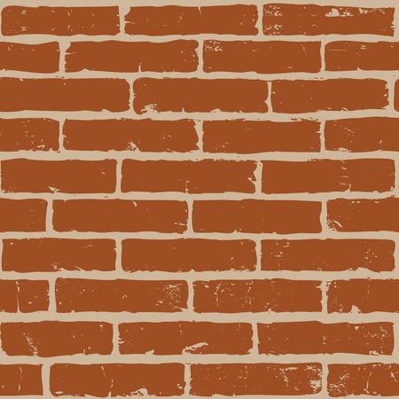brickwork: Seamless pattern with texture of brick wall Illustration