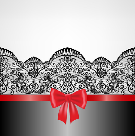 Wedding, invitation or greeting card with lace floral frame Vector