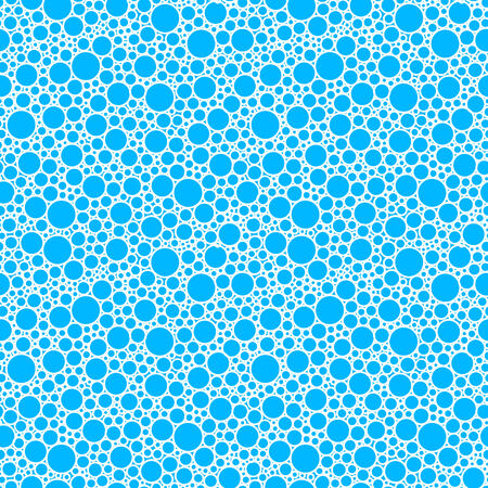 Blue background with white bubles  Vector
