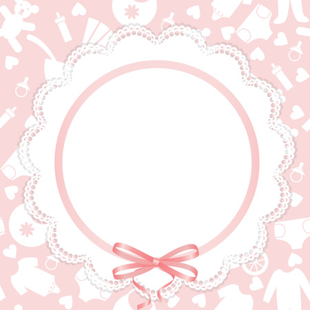 Greeting or invitation card for baby shower Vector